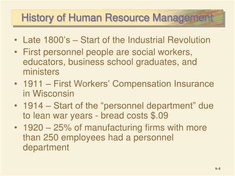 history  human resource management powerpoint