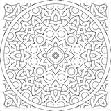 Coloring Pattern Pages Circle sketch template
