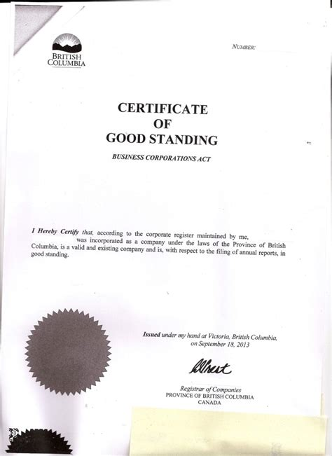 Certificate Of Good Standing by Greece Offshore Zones Offshore And International Law Gsl