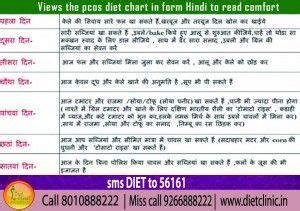 pcos diet chart  hindi pcos diet pcos diet chart