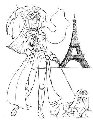 french style coloring page  printable coloring pages
