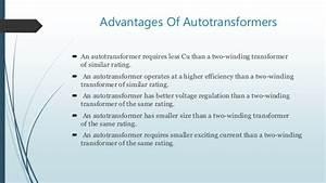 Autotransformers