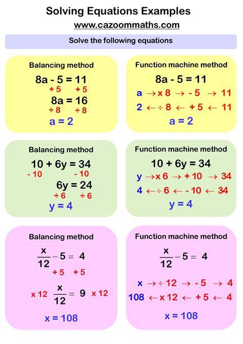 solving linear equations worksheets pdf solving