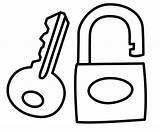Key Lock Drawing Coloring Template Children Getdrawings Clipartmag sketch template