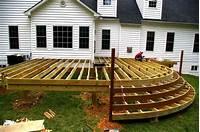designing a deck Deck Design Ideas Simple Wood Deck Designs Backyard Deck ...