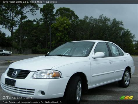 white nissan sentra 2006 2006 nissan sentra 1 8 s in cloud white photo no 492944