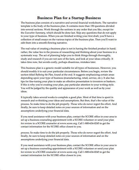 business plan template pdf 16 sle startup business plan templates sle templates