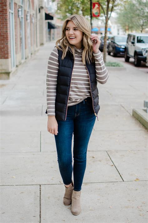 Six Puffer Vest Outfits By Lauren M