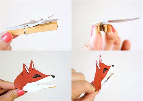 clothespin animal puppets  printable