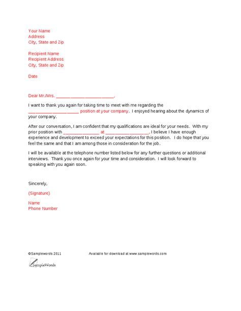 Sle Cover Letter For Hr Position Fresh Graduates by Thank You Letter To Template 28 Images 8 Formal Thank