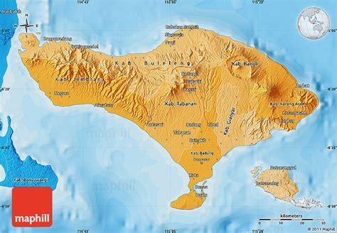 political shades map  bali