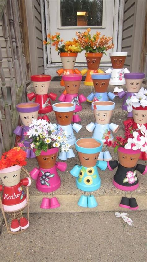 mothers day pot people diy mothers day crafts terra