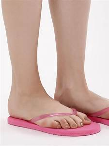 Foot Size Chart Us And India Buy Koovs Pink Toe Post Flip Flops For Girls Online In India
