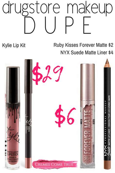 drugstore makeup dupe  kylie lip kit