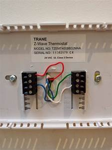 Trane Thermostat Wiring