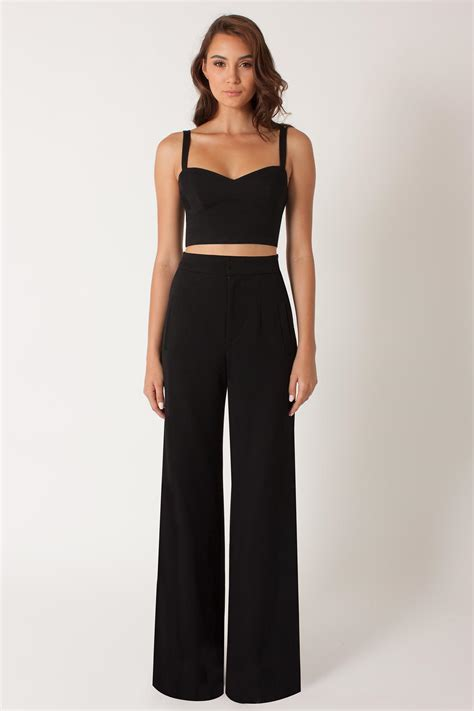 two jumpsuit black halo kalem 2 jumpsuit in black lyst
