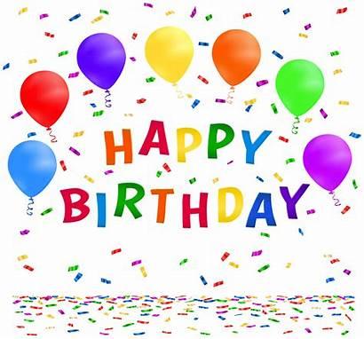 Confetti Clip Birthday Happy Clipart Transparent Clipartix