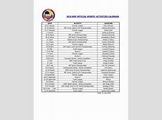 WKF 2019 official calendar approved by the Executive