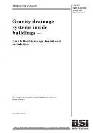 Gravity drainage systems inside buildings. Roof drainage