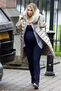 Heavily pregnant Billie Faiers wears clingy jumpsuit