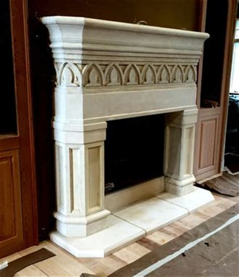 custom concrete fireplace mantels  stone effects