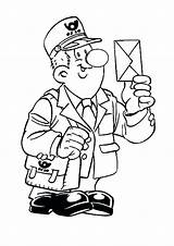 Coloring Mailman Pages Mail Carrier Professions Drawing Postman Printable Getcolorings Fun Colorin sketch template