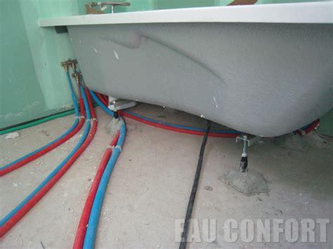bain de siege eau froide 3 baignoire avec rails de renforts sur les murs joint d