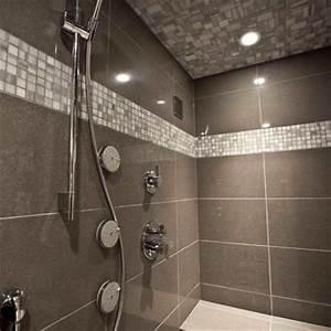 Large bathroom subway tile joy studio design gallery for Small bathroom big or small tiles