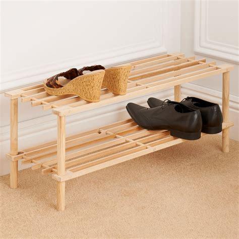 addis  tier wooden shoe rack storage shelving bm