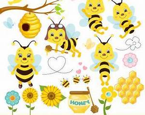 Bees clipart - honey bees clip art, spring bumblebees ...