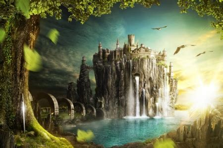 fantasy castle   cg abstract background