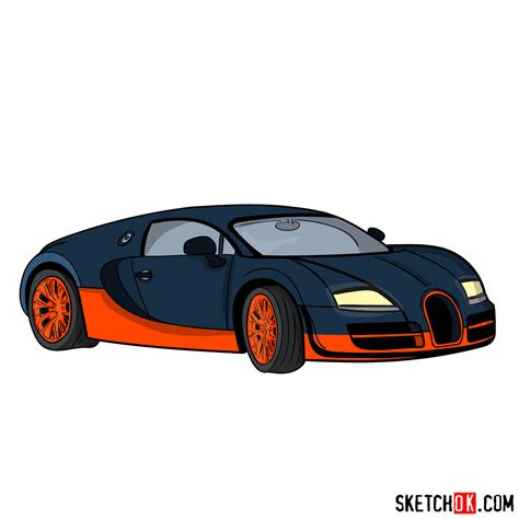draw bugatti veyron  super sport step  step