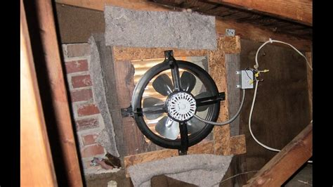 gable end attic exhaust fans attic exhaust fan install youtube