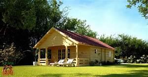 Maison En Bois Tout Compris : chalet en kit haut de gamme harfleur avec terrasse couverte ~ Melissatoandfro.com Idées de Décoration