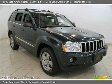 2005 grey jeep grand cherokee deep beryl green pearl 2005 jeep grand cherokee limited
