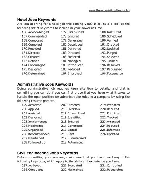 key resume words and phrases krida info