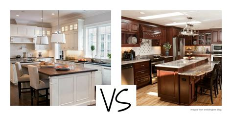 painted vs stained kitchen cabinets white versus wood where are kitchen cabinets headed 7316