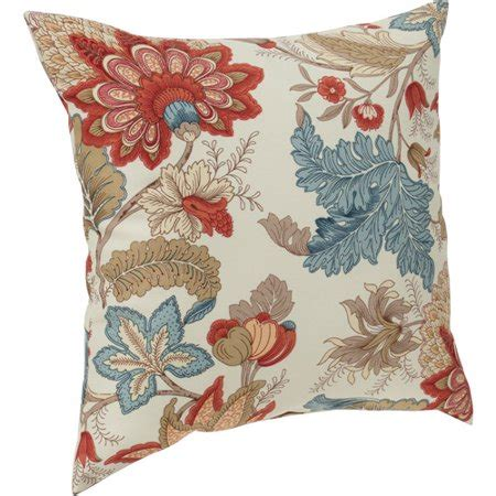 walmart throw pillows mainstays morganton decorative pillow leaf walmart