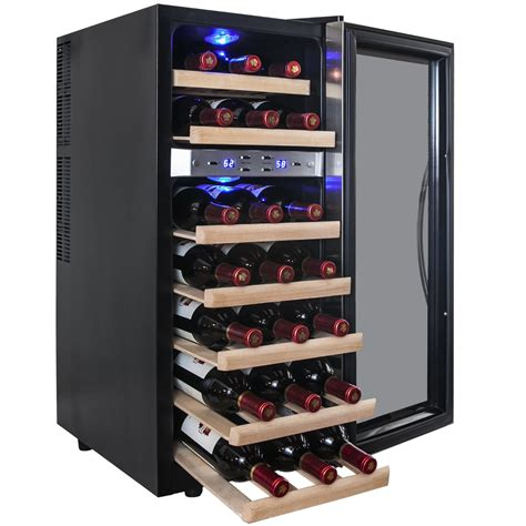 thermoelectric wine cooler akdy dual zone 21 bottle freestanding wine cooler