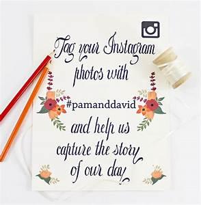 Instagram Wedding Signs Free Printable
