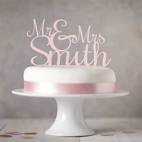 personalised mr and mrs wedding cake topper wedding