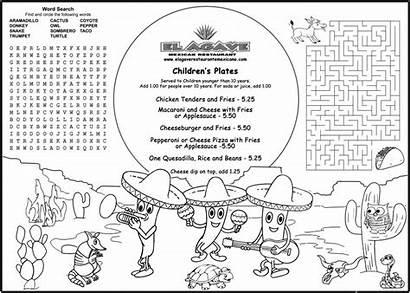 Menu Coloring Printable Menus Children Activity Sheets