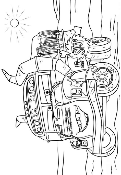 Kleurplaat Auto Stenen by Coloring Page Cars 3 Miss Fritter Coloring Pages