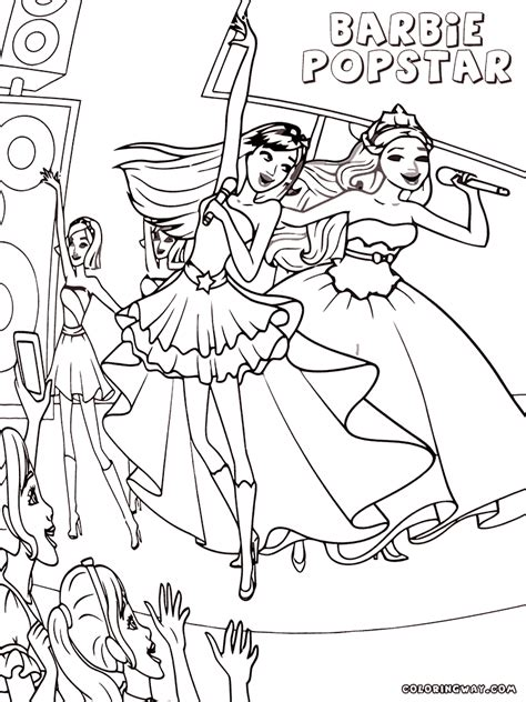 barbie popstar coloring pages coloring pages