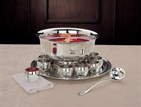 Reed And Barton's Punch Bowl Set Features Everything A
