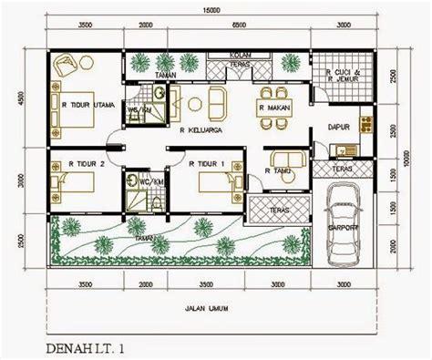 hasil gambar  desain rumah  denah rumah rumah