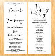 Simple Wedding Ceremony Wedding Program From BrightPaper Nancee 39 S Blog They Can Be Worn By Any Bride Who Is Simple Elegant Wedding Program Modern Trendy By Items Similar To Classic Wedding Ceremony Programs