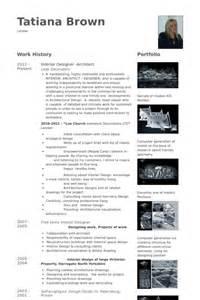 interior designer resume sles visualcv resume sles
