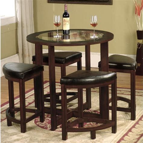 round kitchen table sets for 4 dinette sets for small spaces dining table 4 kitchen solid
