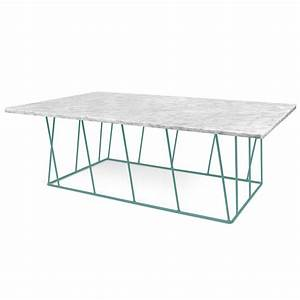 temahome helix white green long marble modern coffee With long marble coffee table